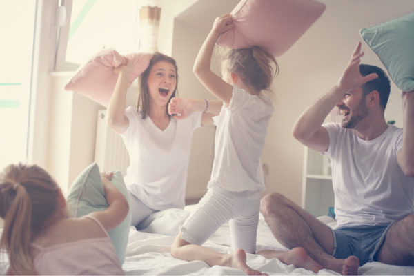 Family Packing Pillows For Moving