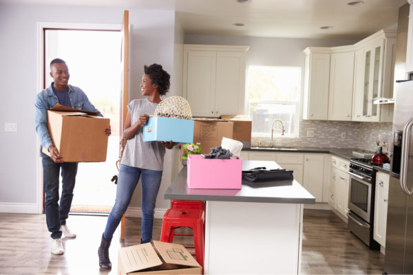 Young Couple Moving Apartments