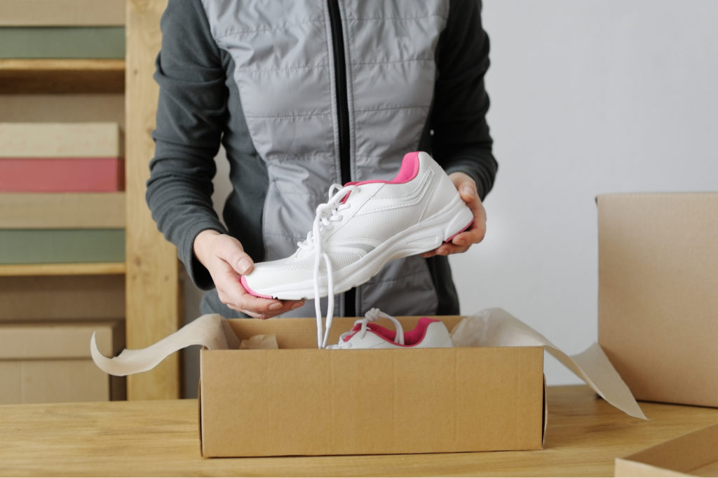 Packing Shoes In Boxes