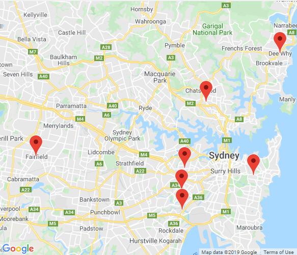 Sydney depot locations