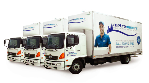 MetroMovers local and interstate removals fleet